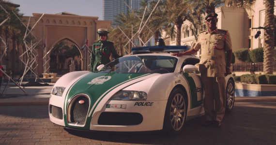 Bugatti Veyron Dubaj policie